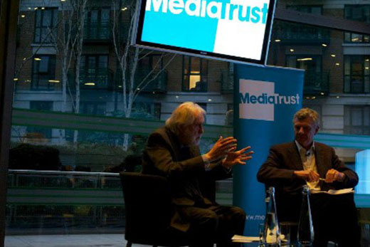 Lord Puttnam with Richard Eyre