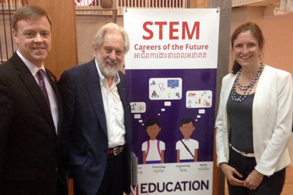Press launch of the STEM Careers of the Future guide in Cambodia