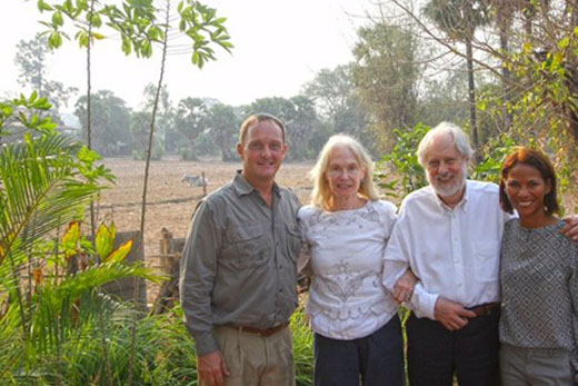 Lord and Lady Puttnam with Andy Booth and partner