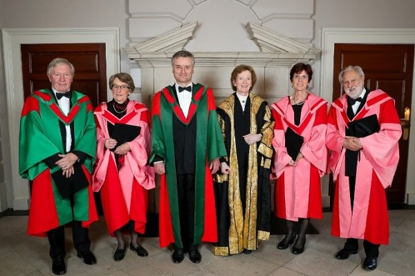 Trinity College Dublin Honorary Degree Ceremony
