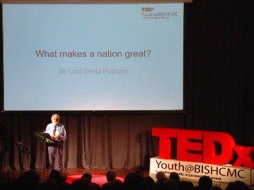What makes a nation great. | Lord David Puttnam | TEDxYouth@BISHCMC | Official Website of David Puttnam | Atticus Education | Climate Change