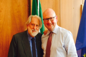 Lord Puttnam with Min Ged Nash