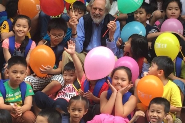 David Puttnam at The Rise School in Ho Chi Minh City