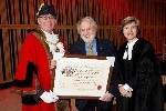 Lord Puttnam at the Freedom of Gateshead ceremony