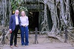 Lord and Lady Puttnam at Ankor Wat