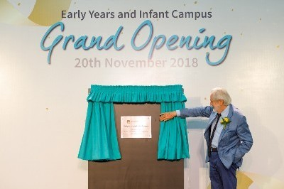 Award-winning film producer officially opens new BIS campus