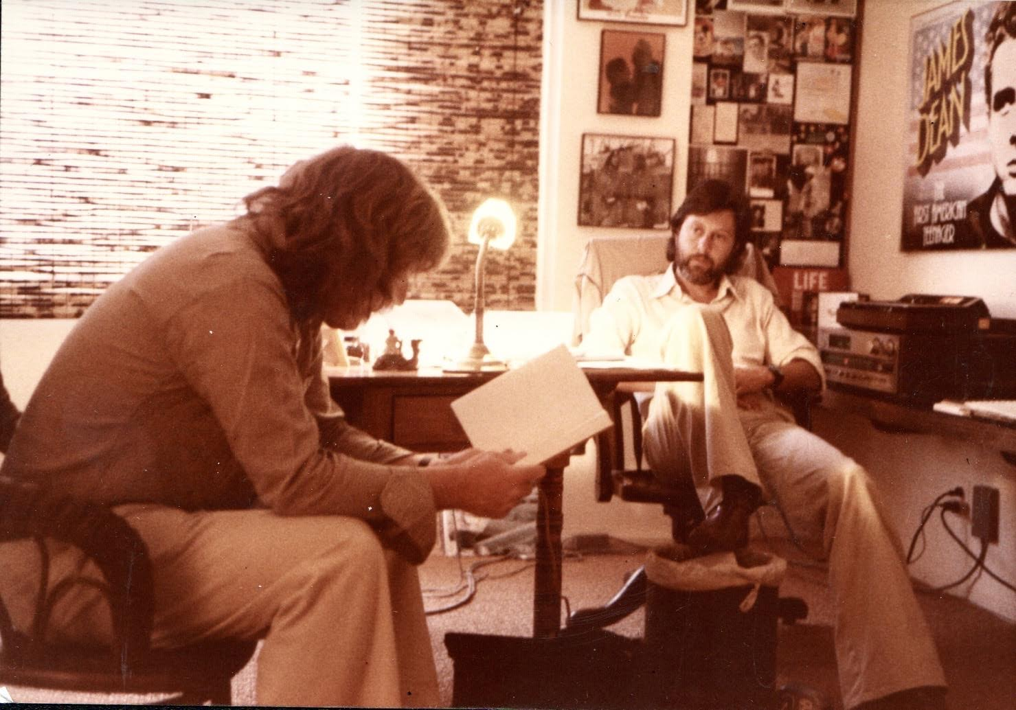 Lord Puttnam and Alan Parker at work in Hollywood