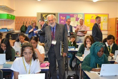 Lord Puttnam visits Walthamstow School for Girls