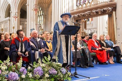 Lord David Puttnam awarded Honorary Doctorate of Bath Spa University
