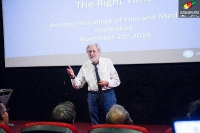 Lord Puttnam speaks at Annapurna International School of Film and Media