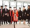 Lord Puttnam attends the Pearson College Graduation Ceremony